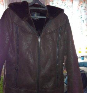Куртка дубленка осень зима,р-56,женская