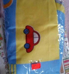 Постельное в детскую кроватку новое в упаковке