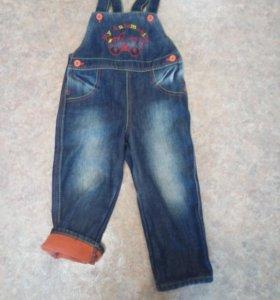 джинсовый комбинезон утепленный