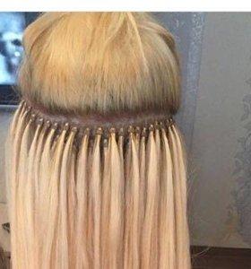 Микро  нарашивание  волос,покраска