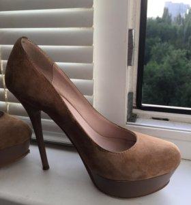 Туфли замша+кожа 34