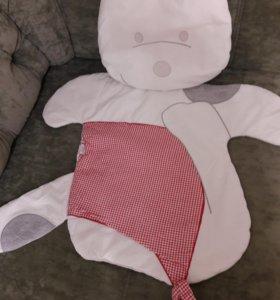 Bebetto матрасик с подушкой в коляску