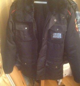 Куртка зимняя с воротником и капюшоном