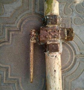 Кран газовый на 25 в сборке(бронза)