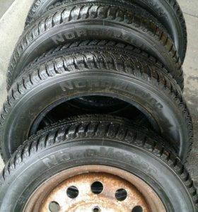 Продаю 4 шины + 1 колесо R 14 /175/65