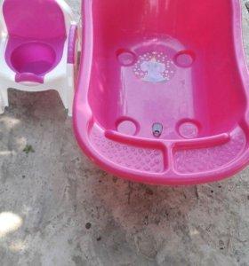 Ванночка и горшок для девочки