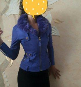 Пиджак с натуральным мехом