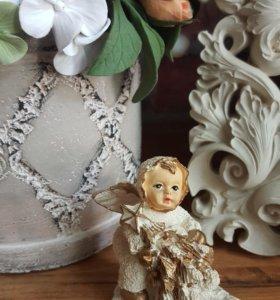 Рождественский ангел с ёлкой
