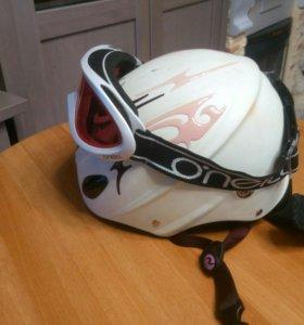 Шлем для сноуборда с очками
