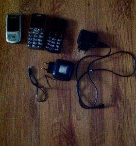 Телефоны на запчасти и зарядки (рабочие)