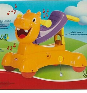 Каталка-Качалка-Ходунки Hasbro Playskool Бегемотик