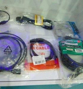 HDMI, UTP, VGA, шнуры, переходники