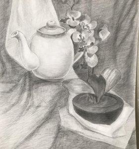 "Рисунок карандашом ""Натюрморт"""