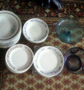 Посуда: тарелки