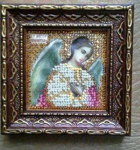 Икона ангел-хранитель (бисер)