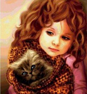 Кот и девочка