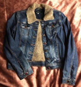 Джинсовая куртка тёплая