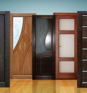 Межкомнатная дверь экошпон PS-02 со стеклом