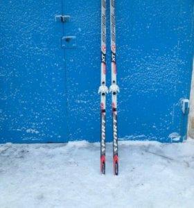 Лыжи +ботинки(38-39р)