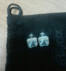 Серьги и гвоздики серебро