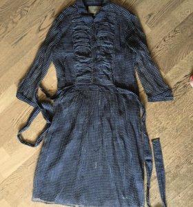 Платье Burberry оригинал р. IT44, шёлк