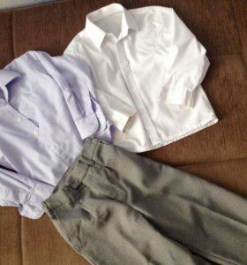 Рубашки и брюки,рост 92-98