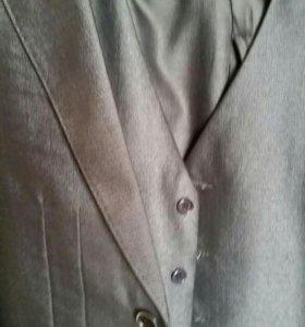 Школьный костюм (тройка)пиджак+жилет+брюки150-158