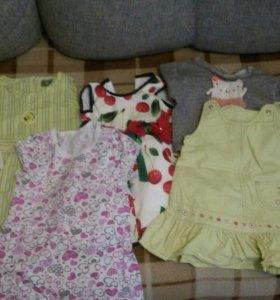 Пакет вещей на девочку 80-86 (50 вещей).