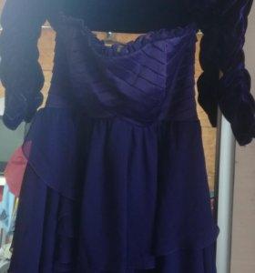 Платье коктейльное с болеро