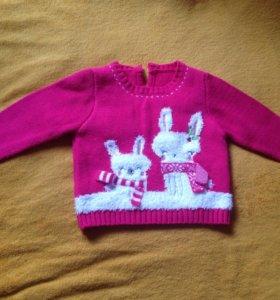 Нарядный свитерок для девочки