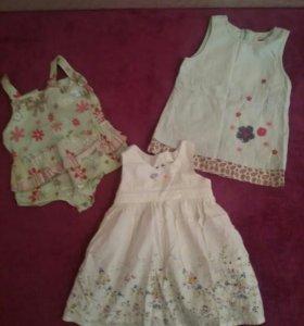 платья для малявок до года