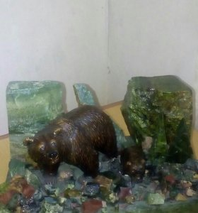 Сувенир композиция из камня Урала