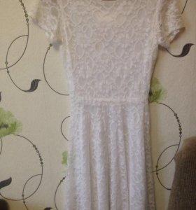 платье комплект с поясом