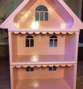 Кукольный дом+кукла+ мебель