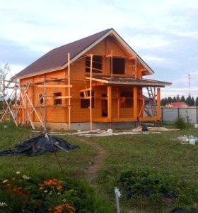 Шлифовка и покраска деревянных домов, бань. ТЕПЛЫЙ
