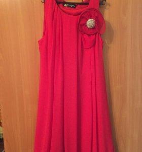 Шифоновое платье, размер 42-44, надевала 1 раз
