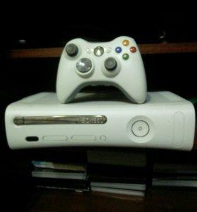 Xbox 360+72 игры и геймпад