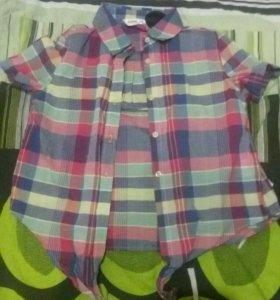 Рубашка с завязочками.