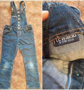 Джинсовый комбинезон,штаны на флисе,водолазка