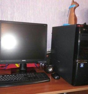 Компьютер + монитор, клавиатура, мышка, колонки