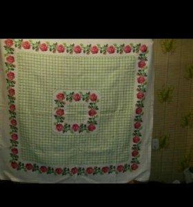 Скатерть ручной вышивки