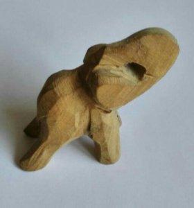 Слон Деревянный Резной