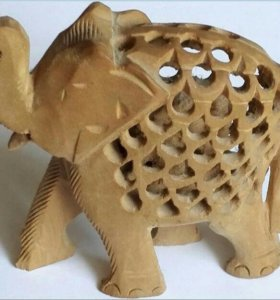 Слон Ажурный Деревянный