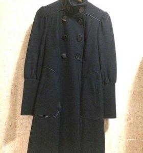 Черное шерстяное пальто Miss sixty