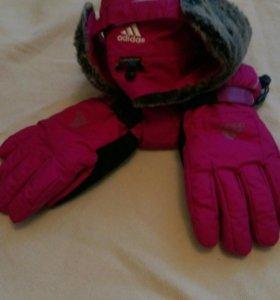 Шапка+ перчатки