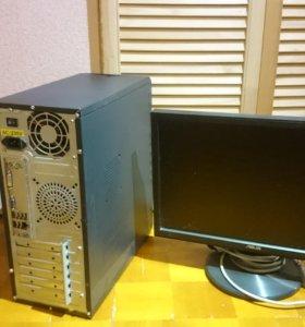Компьютер Core i3 и монитор 19 дюймов