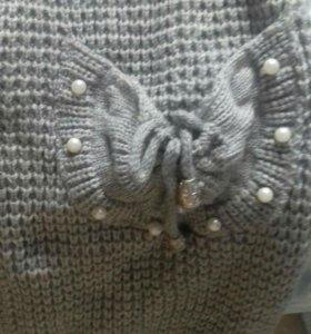 Жакет вязанный новый с жемчугами