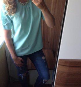 Фирменная блузка Zara р.М