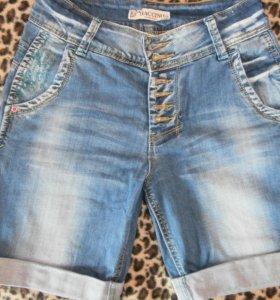 джинсовые шорты 27 р-р
