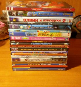 DVD диски с мультиками 20 шт